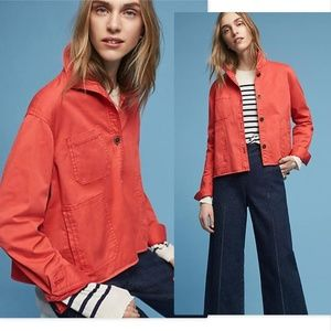 Anthropologie Chino Swing Jacket size Small